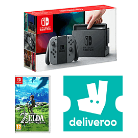 Nintendo Switch Grey with The Legend of Zelda - Breath of the Wild + £5 Deliveroo Credit