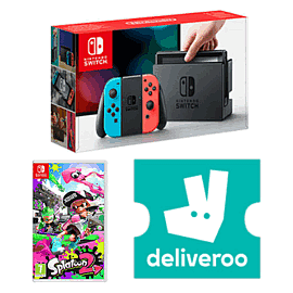 Nintendo Switch Neon with Splatoon 2 + £5 Deliveroo Credit