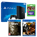 PS4 Pro 1TB Console with inFAMOUS: Second Son + Fallout 4 + and NOW TV 2 Month Sky Cinema Pass
