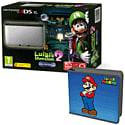 Nintendo 3DS XL Silver with Luigi's Mansion 2 and Super Mario Folio Kit - Only at GAME