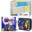 New Nintendo 3DS (White) with Legend of Zelda: Majora's Mask and Legend of Zelda Folio Kit