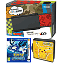 New Nintendo 3DS (Black) with Pokemon Alpha Sapphire and Pikachu Folio Kit