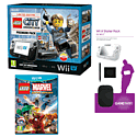 Black Wii U Premium with LEGO City: Undercover, GAMEware Starter Pack and LEGO Marvel Super Heroes