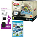Black Wii U Premium with Legend of Zelda: Wind Waker HD, GAMEware Starter Pack and Sports Connection