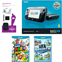 Black Wii U Premium with Nintendo Land, GAMEware Starter Pack, Sports Connection and Super Mario 3D World