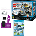 Black Wii U Premium with LEGO City: Undercover, GAMEware Starter Pack and Sports Connection