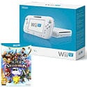 White Wii U Basic with Super Smash Bros