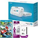 White Wii U Basic with Mario Kart 8, GAMEware Wii U Screen Protection Kit & GAMEware Wii U Game Pad Silicon Skin