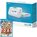 White Wii U Basic with Captain Toad: Treasure Tracker