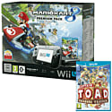 Black Wii U Premium with Mario Kart 8 and Captain Toad Treasure Tracker