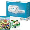 White Wii U Basic with Mario Party 10 and Classic Collection Luigi amiibo