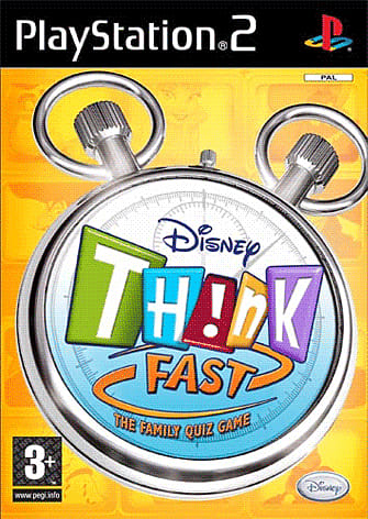 Disney Think Fast: The Family Quiz Game with Buzz Controller