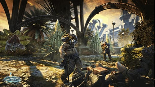 Reward inventive shooting with Skillshot in Bulletstorm on Xbox 360, PlayStation 3 and PC at GAME