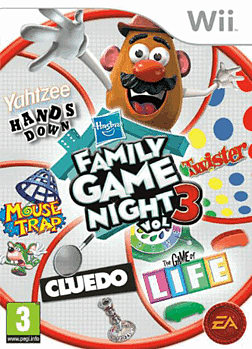 Hasbro Family Game Night 3 Wii Cover Art