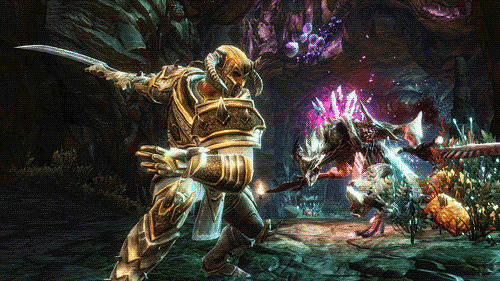 RPG combat system like no other in Kingdoms of Amalur: Reckoning at GAME