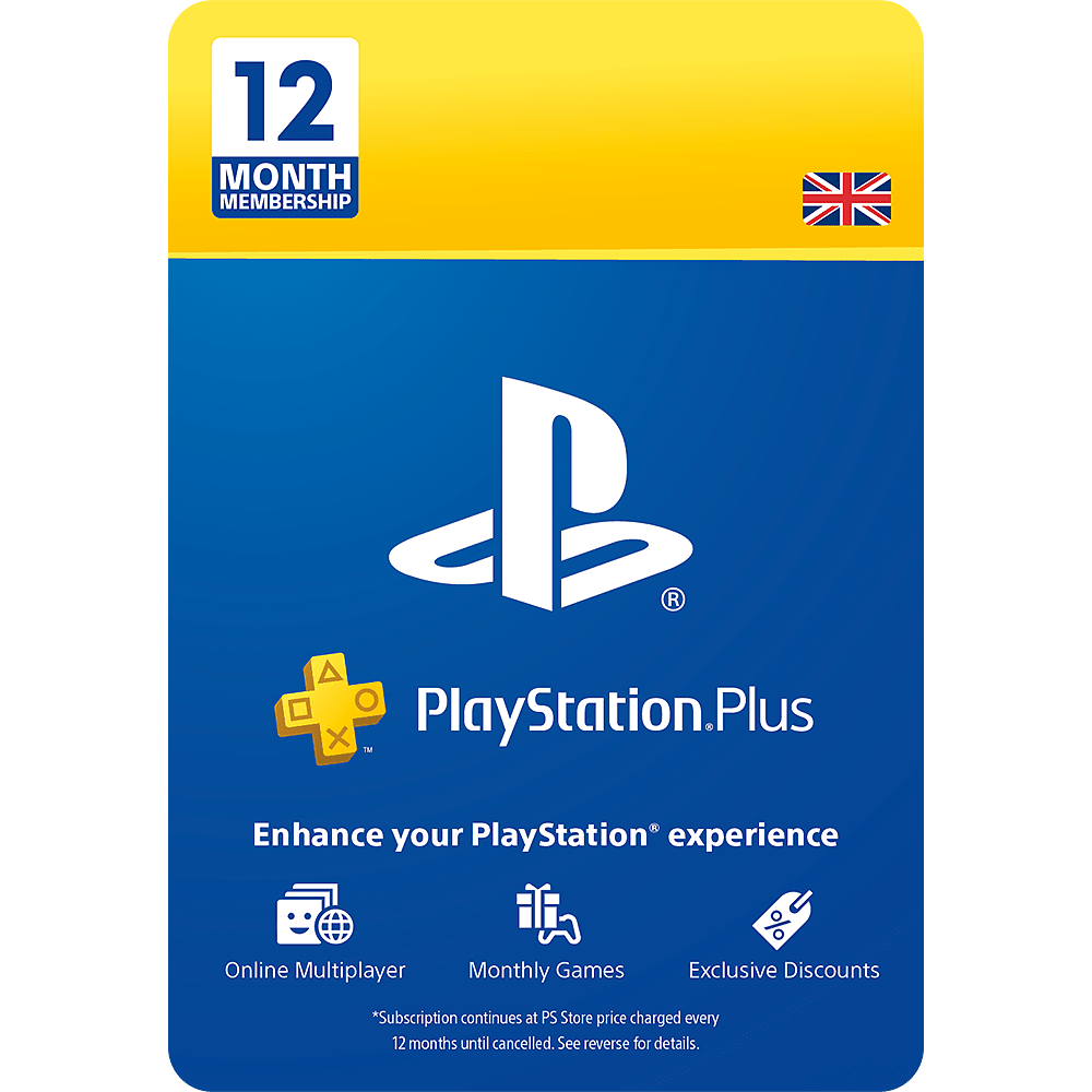 12 Month PlayStation Plus Membership for PlayStation 4 at GAME