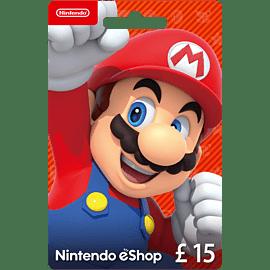 Nintendo eShop Card - £15 for Entertainment Top Up
