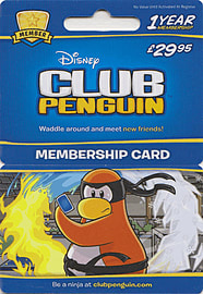 Club Penguin 1 Year Membership Card - £29.95Gifts