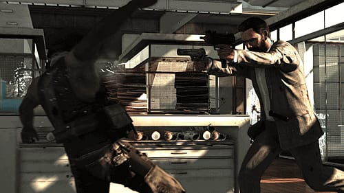 Bullet time action in Max Payne 3 at gamestation