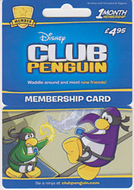 Club Penguin 1 Month Membership Card - £4.95Accessories