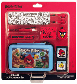 Angry Birds Stereoscopic 3D Gamer 11-piece Accessory Set for Nintendo 3DSAccessories
