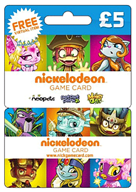 Nickelodeon Game Card - £5Gifts