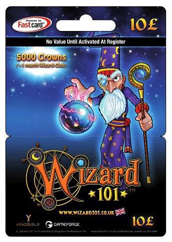 Wizard 101 card - 5000 crowns