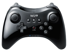 Wii U Black Pro Controller Accessories