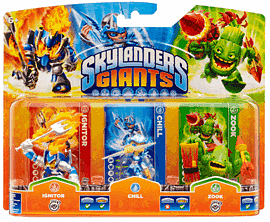 Skylanders Giants Character Triple Pack - Chill, Zook and IgnitorToys and Gadgets