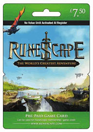 Runescape Game Card - £7.50Gifts