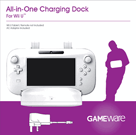 GAMEware Wii U All-In-One Charging Dock (White) Accessories