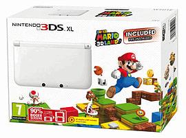 Nintendo 3DS XL White with Super Mario 3D Land 3DS XL