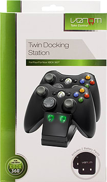 Venom Xbox 360 Twin Docking Station with 2 x Rechargeable Battery Packs (Xbox 360)Accessories