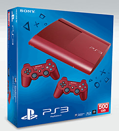 PlayStation 3 500GB Slim - Red - GAME ExclusivePlayStation 3