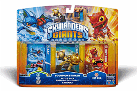 Skylanders Giants Scorpion Striker Battlepack (incl. Hot Dog, Zap and Catapult)Toys and Gadgets
