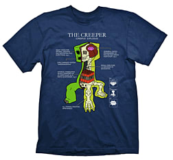 Minecraft Youth T-shirt - Creeper Anatomy (9 to 11 Yrs)Clothing and Merchandise