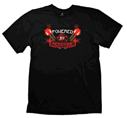 Minecraft T-Shirt - Powered by Redstone - Size LClothing and Merchandise