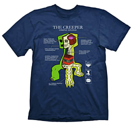 Minecraft T-Shirt - Creeper Anatomy - Size LClothing and Merchandise