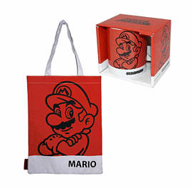 Super Mario Shopper Bag and Mug - MarioClothing and Merchandise