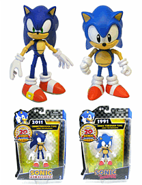"20th Anniversary Sonic Through Time 5"" Action Figure Twin Pack - Sonic Classic and Sonic ModernToys and Gadgets"