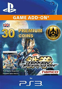 Tekken Revolution Premium Coins (Set of 30) for PS3
