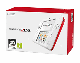 Nintendo 2DS - White and Red Nintendo 2DS
