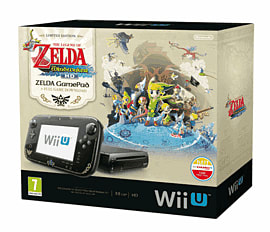 Black Wii U Premium with The Legend of Zelda: The Wind Waker HD Wii U