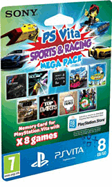 PlayStation Vita Sports & Racing MEGA Pack with 8GB Memory Card Accessories