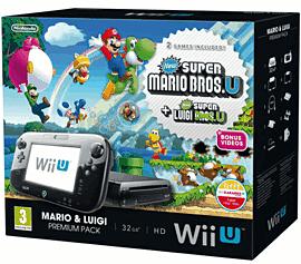 Black Wii U Mario and Luigi Premium Pack Wii U