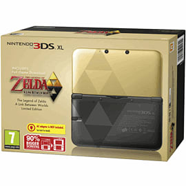 Limited Edition The Legend of Zelda Nintendo 3DS XL Gold with The Legend of Zelda: A Link Between Worlds 3DS