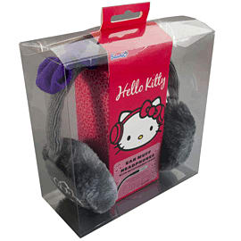 Hello Kitty Cosy Kitty Kintted Ear Muff Headphones - GreyAccessories