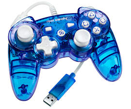 Rock Candy Wired PS3 Controller - BlueAccessories