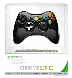 Official Xbox 360 Wireless Controller - Chrome Black Accessories
