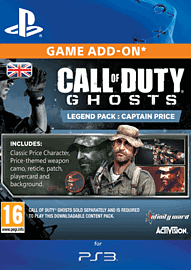 Call of Duty: Ghosts Captain Price Legend Pack for PS3